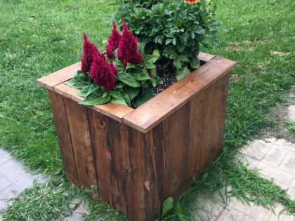 Handmade Wooden Planter Box