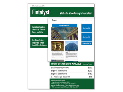 Fintalyst Advertising Rate Sheet